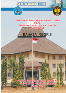 Cover Buku Modul PLPG MAPEL Bahasa Inggris utk Rayon 12 tahun 2008
